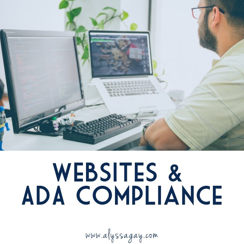 how to create a website that is ada compliant
