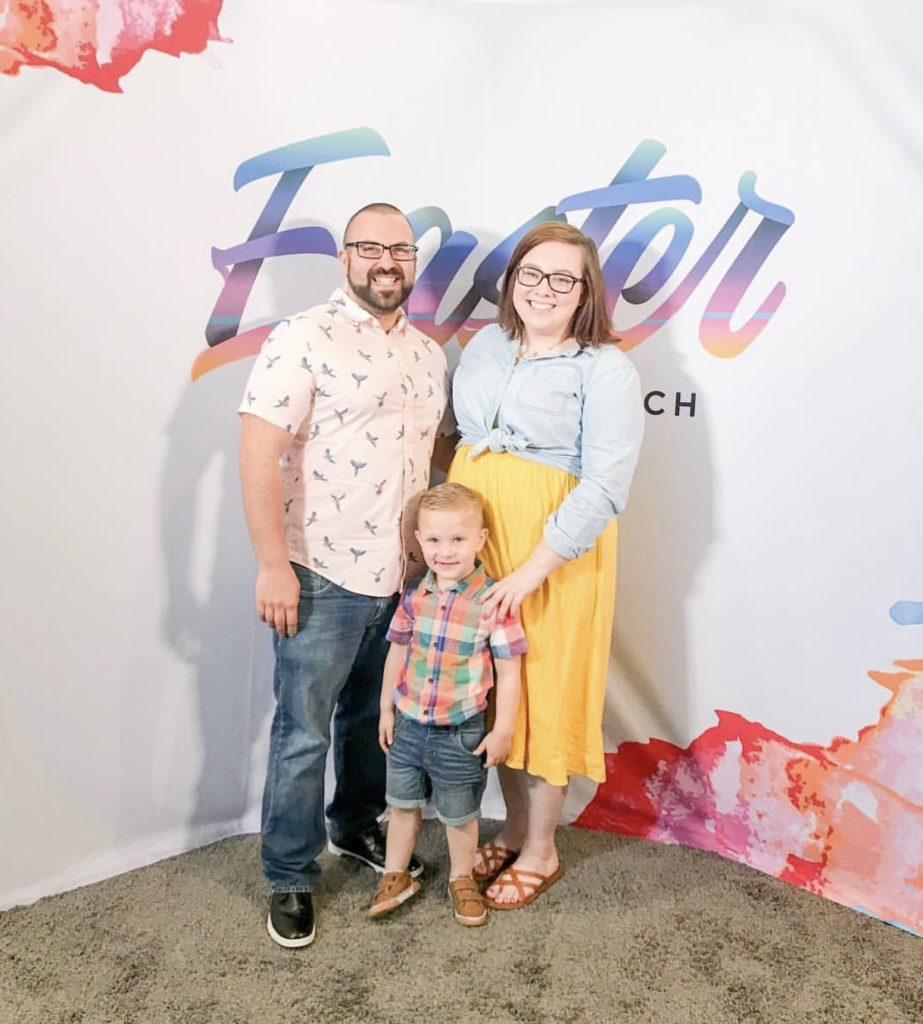 Shannon and her family at Easter.
