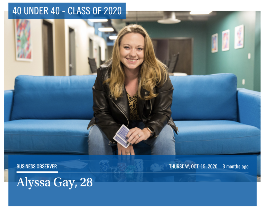 40 under 40; Business Observer Florida; Business Observer; Alyssa Gay Consulting; Alyssa Gay 28 forty under forty